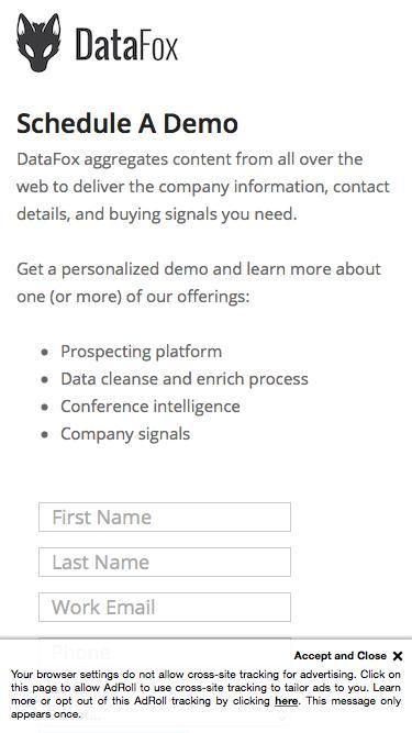 DataFox - Request A Demo