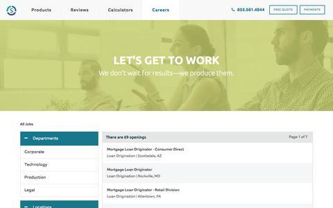 Screenshot of Jobs Page sebonic.com - Job Search   Cardinal Financial - captured Jan. 20, 2020