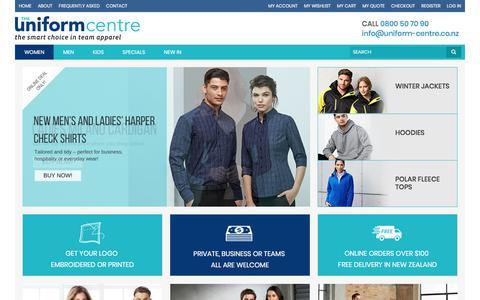 Screenshot of Home Page uniform-centre.co.nz - Uniform Shop NZ - The Uniform Centre - captured June 30, 2018