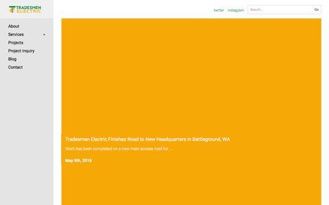Screenshot of Press Page tradesmenelectric.com - Tradesmen Electric News Archive - Tradesmen Electric - captured Dec. 16, 2016