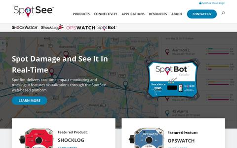 Screenshot of Home Page spotsee.io - Supply Chain & Transportation Monitoring   SpotSee (Formerly ShockWatch) - captured July 16, 2019
