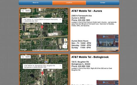 Screenshot of Locations Page mobiletelltd.com - AT&T Mobile Tel - Locations - captured Jan. 11, 2017