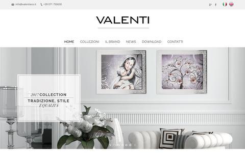 Screenshot of Home Page valentiargenti.it - Valenti Argenti – Dal 1987 nel settore dell'argento - captured Oct. 18, 2018