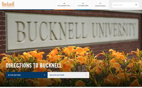 Screenshot of Maps & Directions Page bucknell.edu - Directions to Bucknell | Bucknell University - captured Oct. 7, 2018
