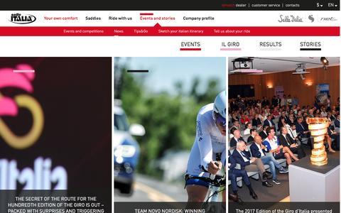 Screenshot of Press Page selleitalia.com - Read the Selle Italia's lastest news - Selle Italia - captured Nov. 29, 2016