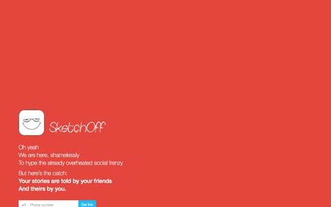 Screenshot of Home Page sketch-off.com - SketchOff - Who are you, in the eyes of your friends? - captured Sept. 30, 2014
