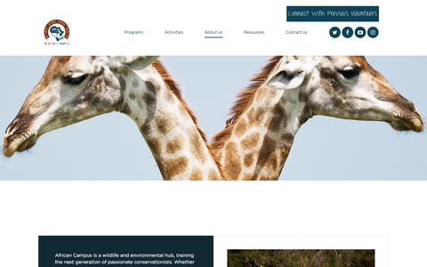 Screenshot of About Page african-campus.com - African Campus - captured July 12, 2018