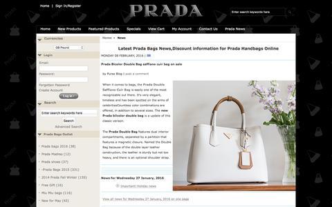 Screenshot of Press Page luxuryfashion2015.com - Latest Prada Bags News,Discount information for Prada Handbags Online - captured March 13, 2016