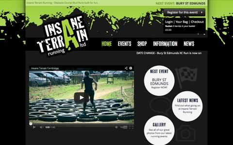 Screenshot of Home Page insaneterrainrunning.com - Insane Terrain Running - Obstacle Course Mud Runs built for fun - captured Oct. 6, 2014
