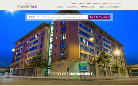 Screenshot of Team Page propertyone.co.uk - Management -  Property One - captured Nov. 2, 2014