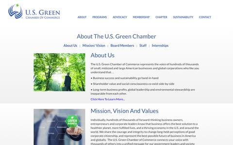 Screenshot of About Page usgreenchamber.com - U.S. Green Chamber of Commerce - captured Nov. 15, 2016