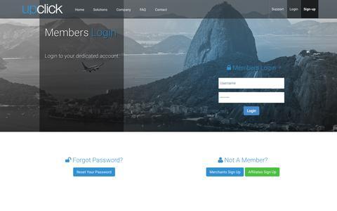 Screenshot of Login Page upclick.com - Login To Upclick E-commerce Platform - captured Sept. 29, 2015