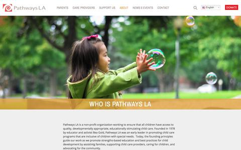 Screenshot of About Page pathwaysla.org - About - Pathways LA - captured July 16, 2018