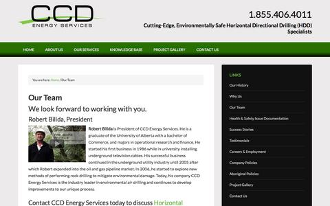 Screenshot of Team Page ccdenergyservices.com - Our Team - captured July 9, 2016