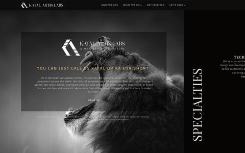 Screenshot of Home Page katalartis.com captured Oct. 6, 2014