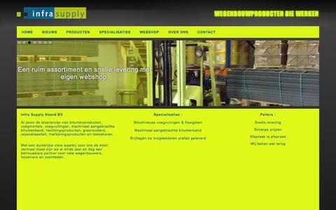 Screenshot of Home Page infrasupply.nl - www.infrasupply.nl - narvikweg 14B - Groningen - captured Oct. 6, 2014