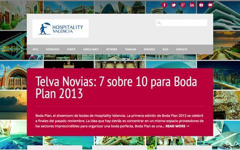 Screenshot of Blog hospitalityvalencia.com - Blog - Hospitality Valencia: servicios turísticos a medida - captured Sept. 30, 2014