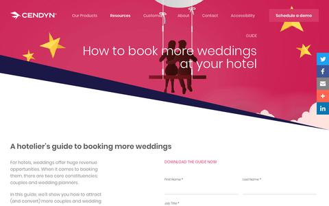 Screenshot of Pricing Page cendyn.com - How to book more weddings at your hotel - Cendyn - captured Jan. 6, 2020