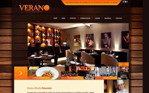 Screenshot of Home Page veranogourmet.com - Verano Gourmet - captured Oct. 7, 2014