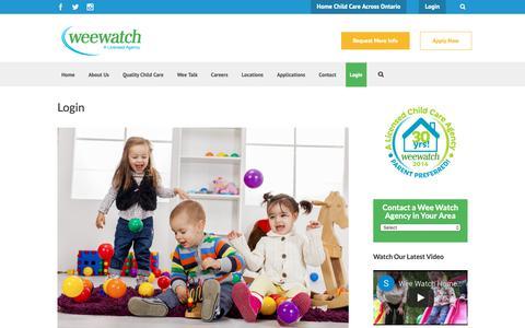 Screenshot of Login Page weewatch.com - Wee Watch Login - Wee Watch - captured Oct. 20, 2018