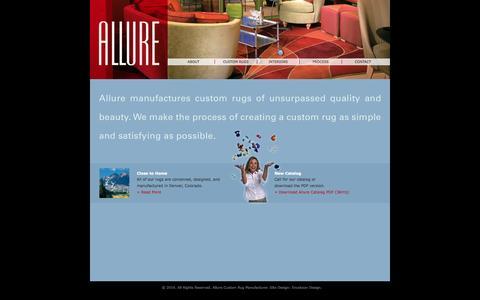 Screenshot of Home Page allurerug.com - Allure Custom Rug Manufacturer - captured Sept. 30, 2014