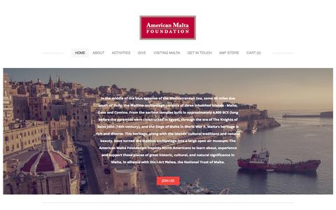 Screenshot of Home Page americanmaltafoundation.org - The American Malta Foundation - American Malta Foundation - captured Sept. 30, 2014