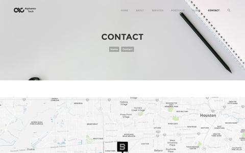 Screenshot of Contact Page alphansotech.com - Contact AlphansoTech | Web & Mobile App Development Company - captured Aug. 8, 2016