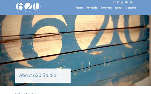 Screenshot of About Page 620studio.com - About | 620 Studio - captured Sept. 20, 2018
