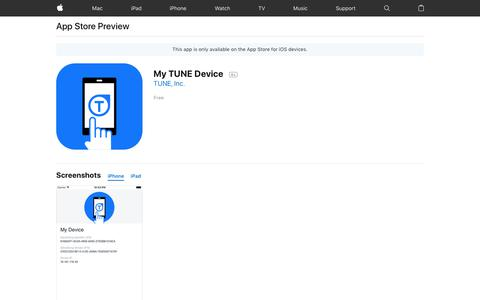 My TUNE Device on the App Store