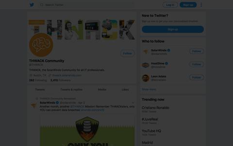 Tweets by THWACK Community (@THWACK) – Twitter