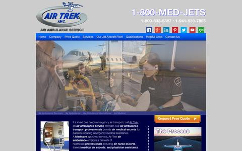Screenshot of Home Page air-ambulance-service.co - Air Ambulance Service offering our patients domestic and international air ambulance services - captured Sept. 10, 2015