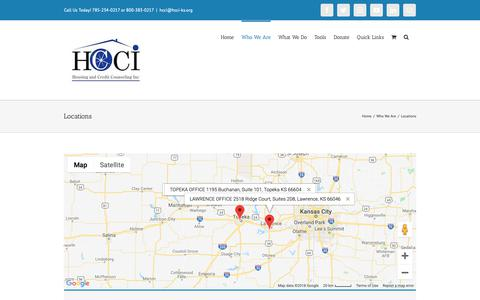 Screenshot of Locations Page hcci-ks.org - Locations – Housing & Credit Counseling, Inc. - captured Sept. 29, 2018