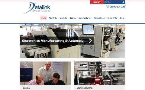 Screenshot of Home Page Menu Page datalink-electronics.co.uk - Designer & Manufacturer of Electronics   Datalink Electronics - captured Oct. 10, 2014