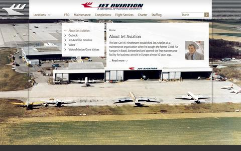 Screenshot of About Page jetaviation.com - About Jet Aviation   jetaviation.com - captured Oct. 31, 2014