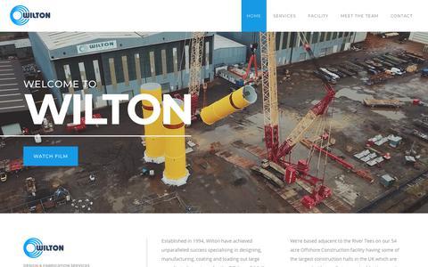 Screenshot of Home Page wiltonengineering.co.uk - Wilton Engineering Services Ltd. - captured Oct. 20, 2018