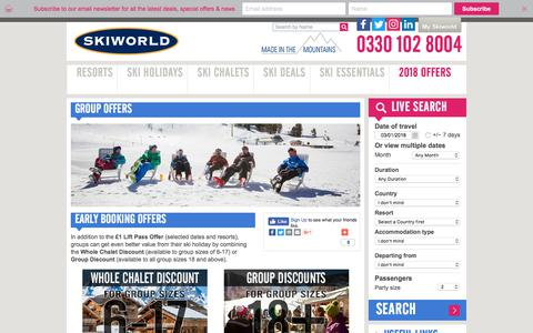 Group Offers | Early Booking Offers | Skiworld