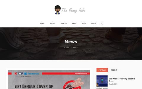 Screenshot of Press Page tyindia.com - News | The Young India - captured Oct. 26, 2017