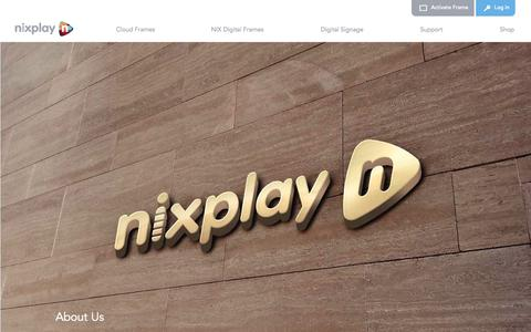 Screenshot of About Page nixplay.com - Learn more about Nixplay - captured Oct. 30, 2014