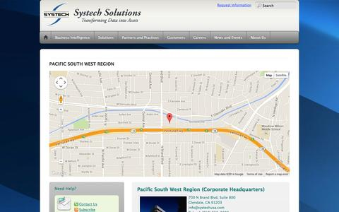 Screenshot of Contact Page Locations Page systechusa.com - Locations - captured Oct. 26, 2014