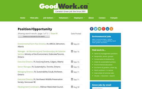Screenshot of Team Page goodwork.ca - Environmental Jobs, Green Jobs, Conservation Jobs   GoodWork.ca - captured Sept. 23, 2014