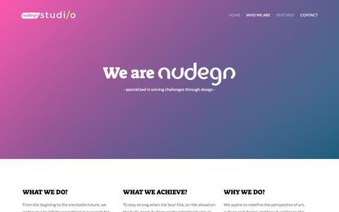 Screenshot of About Page audegn.com - Audegn Studio | About - captured Nov. 29, 2016