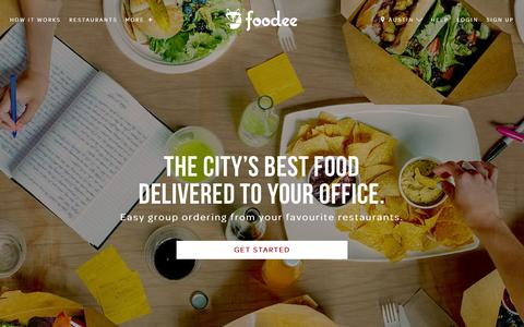 Screenshot of Home Page food.ee - Food.ee - Easy corporate catering and delivery from restaurants to office events - captured Sept. 10, 2015