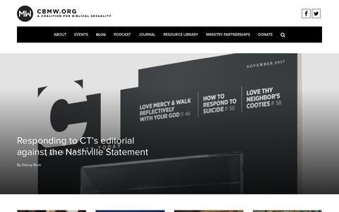 Screenshot of Blog cbmw.org - Blog – CBMW - captured Nov. 1, 2017