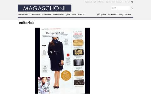 Screenshot of Press Page magaschoni.com - Editorials - captured Oct. 29, 2014