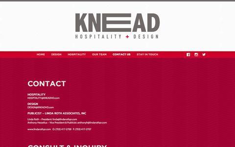 Screenshot of Contact Page kneadhd.com - Contact Us «  Knead HD - captured Aug. 6, 2015