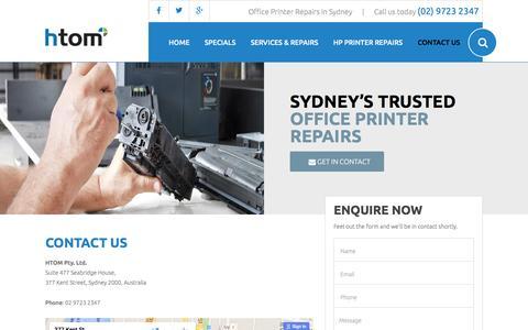 Screenshot of Contact Page sydney-printerrepairs.com.au - Contact Us - captured April 3, 2016