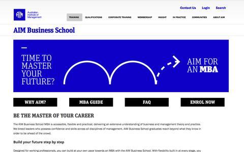 AIM Business School | Australian Institute of Management