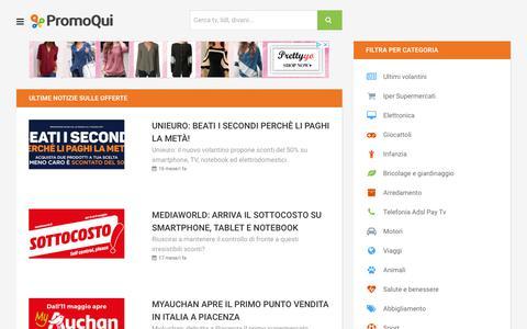 Screenshot of Blog promoqui.it - Ultime notizie sulle offerte - captured Sept. 22, 2018