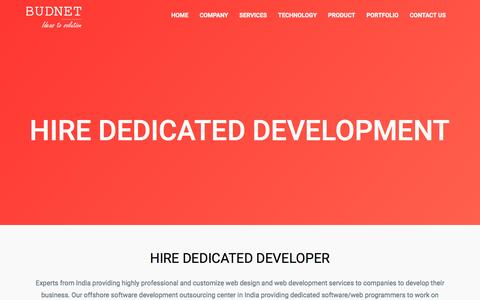 Screenshot of Developers Page budnetdesign.com - Hire Dedicated Developer coimbatore - budnetdesign.com - captured Nov. 23, 2016