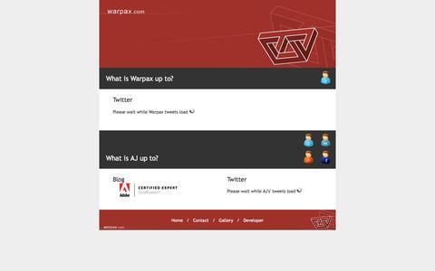 Screenshot of Developers Page warpax.com - Warpax Technology Solutions - captured Feb. 23, 2016